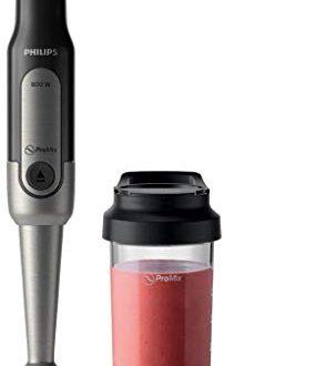 Philips Stabmixer Viva HR2650/90 (800W, SpeedTouch, inkl. 2-in-1 Togo Trinkflasche & Mixbecher) edelstahl